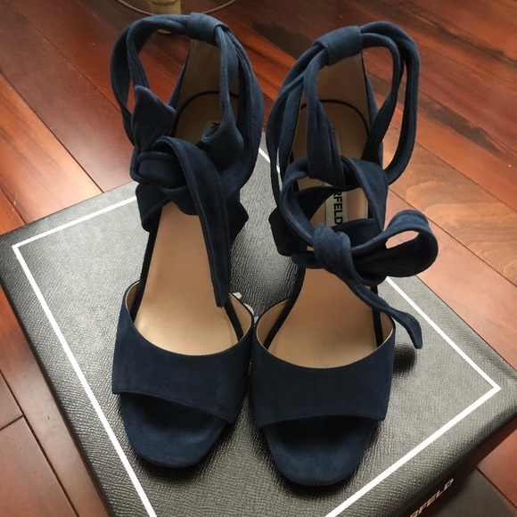 60a43081bec7 Karl Lagerfeld Shoes - Karl Lagerfeld Paris Blue Shoes SZ 7.5M